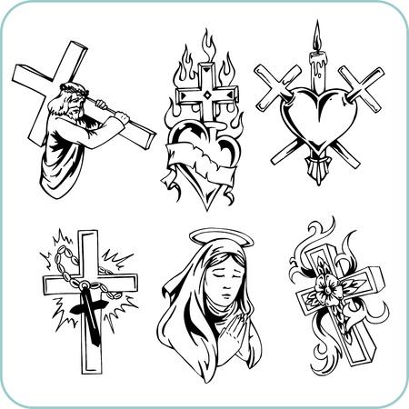 christian cross and wings: Christian Religion  Illustration