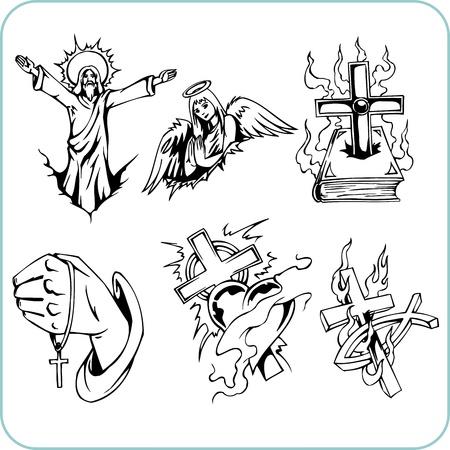 cross and wings: La religi�n cristiana