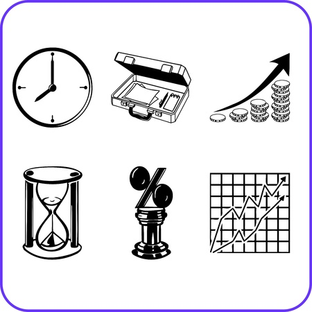Items Office - business set  illustration  Stock Vector - 17458948