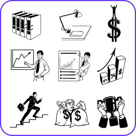 Items Office - business set  illustration Stock Illustration - 17458991