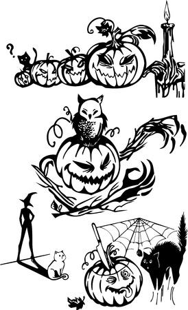 Happy Halloween - vector set   Stock Vector - 17572884