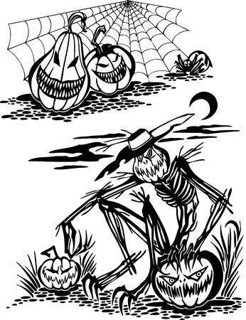 Happy Halloween - vector set Stock Vector - 17572948