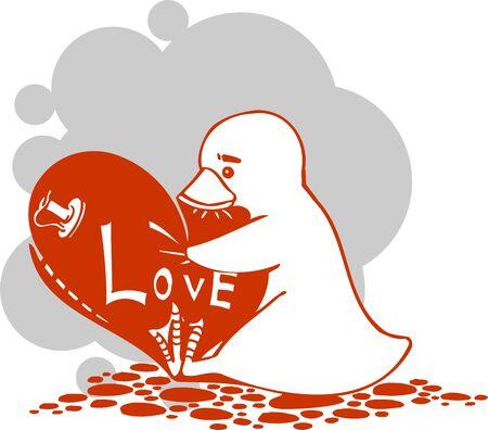 Valentines Day - vector illustration  Ilustração