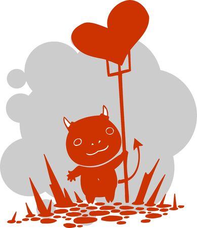 imp: Valentines Day - vector illustration  Illustration