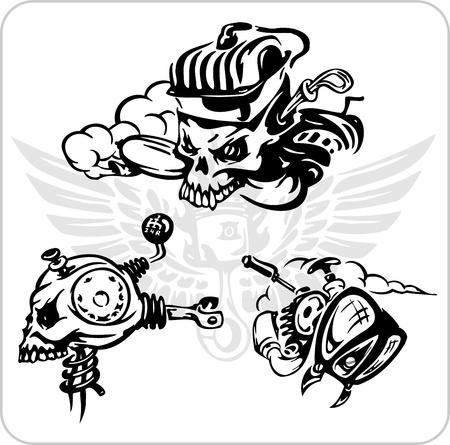 chauffeurs: Pilotes folles - Vinyl-ready illustration vectorielle.