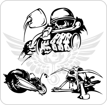 biker: Crazy Drivers - Vinyl-ready vector illustration. Illustration