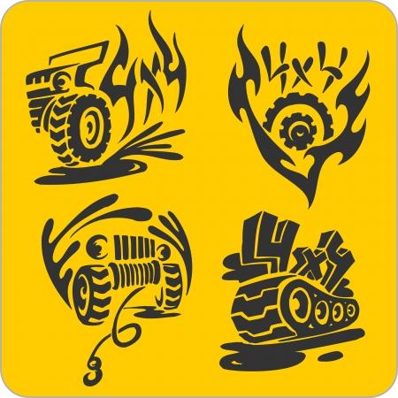 Off-roff-Road symbolen - vinyl-ready vector illustration