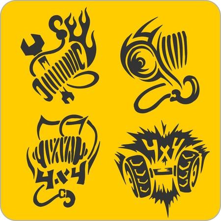 Off-ROff-Road symbols - vinyl-ready vector illustration Vector