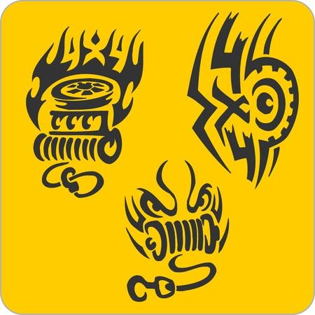 off the hook: Off-ROff-Road symbols - vinyl-ready vector illustration