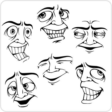Emociones - Vinilo listo para la ilustración vectorial Foto de archivo - 21302094