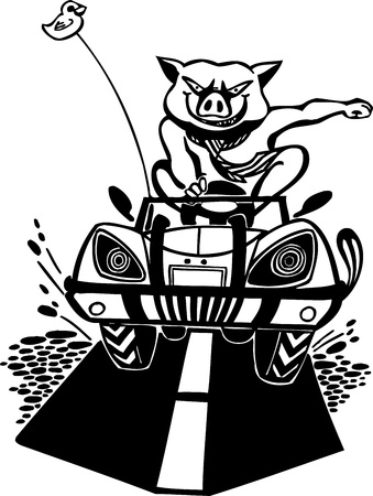 destroyer: Bully pig. Vinyl-ready vector design. Illustration