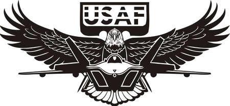 US Air Force - Military Design. Vinyl-ready vector illustration. Vector