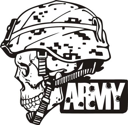 insignias: Diseño militar del Ejército de EE.UU. - ilustración vectorial vinyl-ready. Vectores