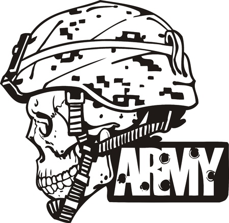 US Army Military Design - vinyl-ready vector illustration.