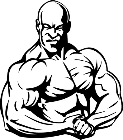 bicep: Fisicoculturismo y Powerlifting - ilustraci�n vectorial.