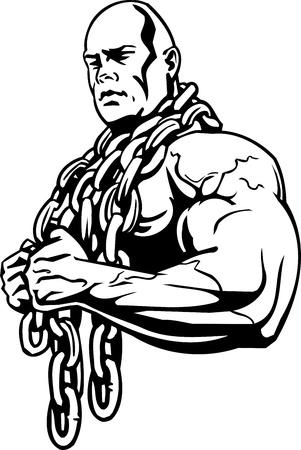 levantamiento de pesas: Fisicoculturismo y Powerlifting - ilustraci�n vectorial.