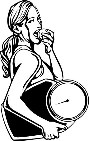 Womens Fitness - vector illustration. Vector