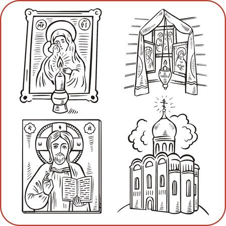 love dome: Orthodox religion - vector illustration.