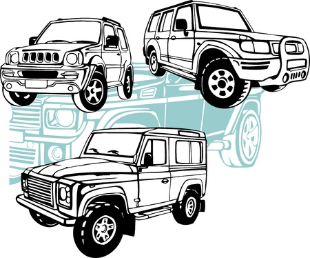 オフロード車 - ベクトルを設定  イラスト・ベクター素材