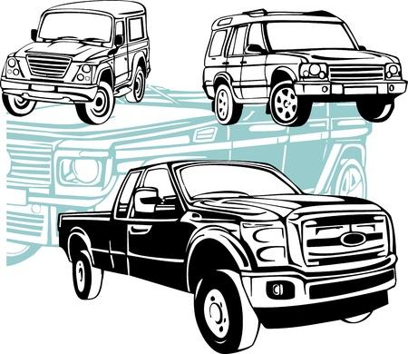 Off-Road Fahrzeuge Vektorgrafik