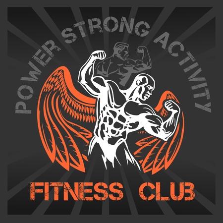GYM Bodybuilding - vector emblem 일러스트