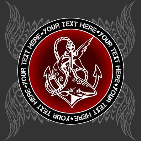 hanedan arması: Askeri Amblem - vektör illüstrasyon