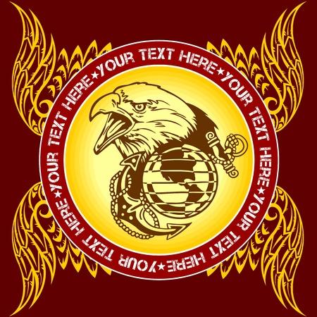 armorial: Military Emblem - vector illustration