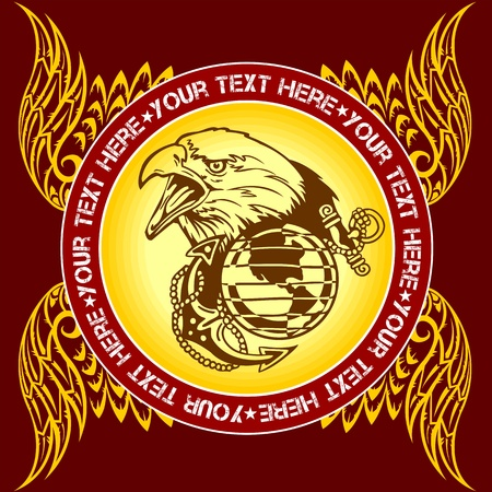 Military Emblem - vector illustration
