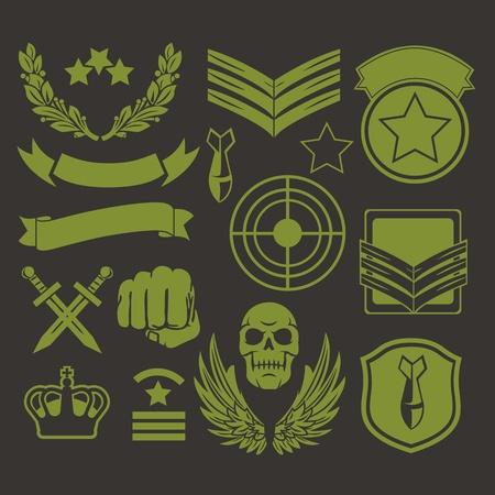 insignias: Parches militares unidad especial Vectores