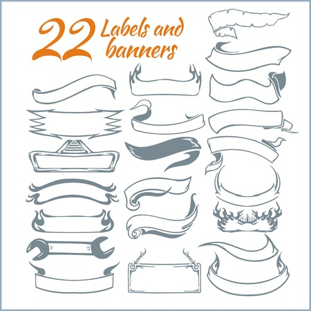 Lables and rbanners - vector set. Vector