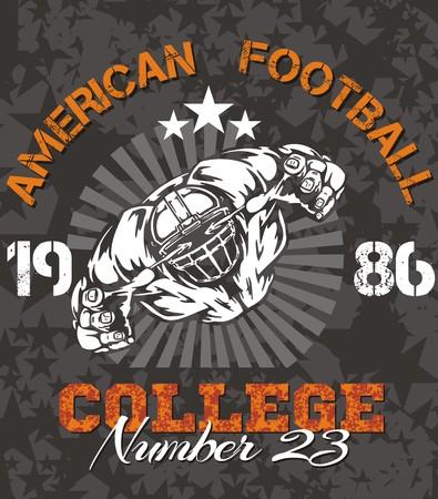 American football - Vintage vector print for boy sportswear Vector