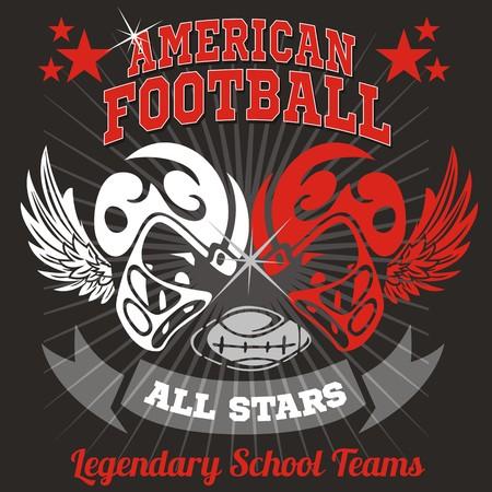 American Football - vector illustration ready for t-shirt Vector
