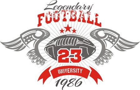 American football - Vintage vector print for boy sportswear Vettoriali