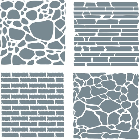 Stone and brick cladding texture set.