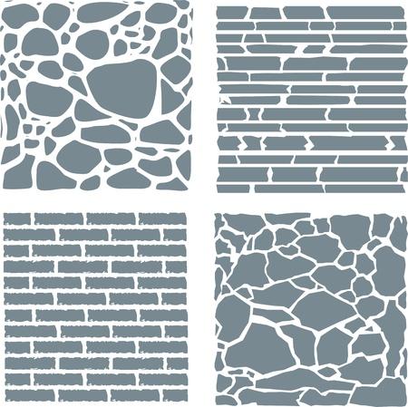 overbuilding: Pietra e rivestimento in mattoni texture set.