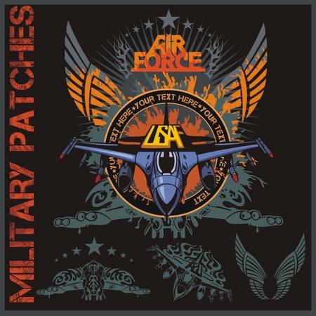 Air force Patch Set - illustration vectorielle