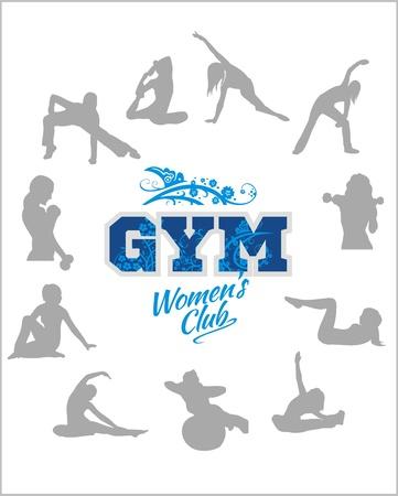 Womens GYM - Fitness club - vector illustration Vector
