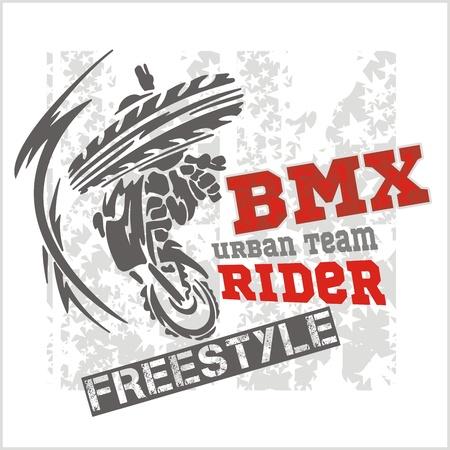 mtb: BMX rider - urban team. Vector design.