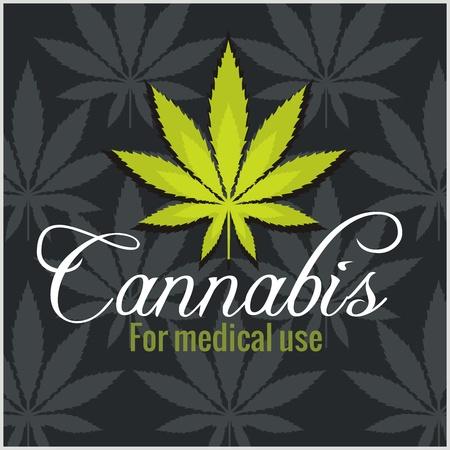 Marijuana - cannabis. For medical use. Vector set. Vectores