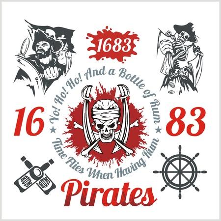 Pirate thème des éléments de conception - Vector set. Banque d'images - 35867965