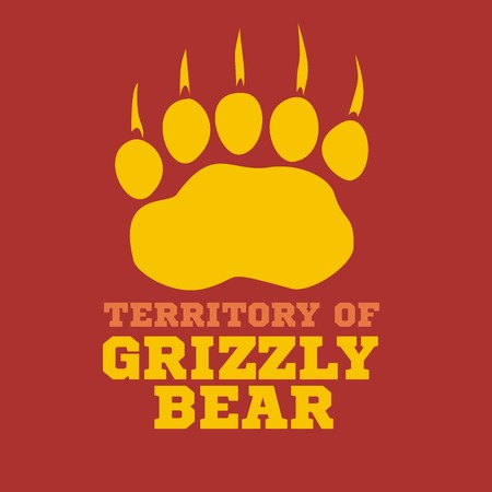 grizzle: footprint grizzly bear -  vector illustration