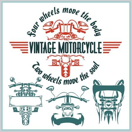 Les étiquettes vintages de moto, des badges et des éléments de conception - Vector set. Banque d'images - 36332760