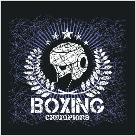 Boxing Champion - Vintage vector artwork for t-shirts Vector