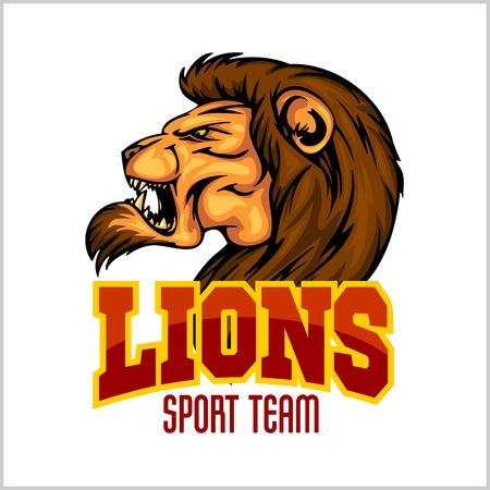 Lion head mascot - vector illustration for sport team Vector