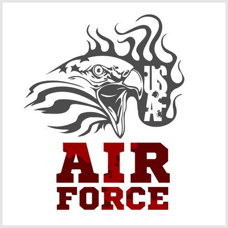 air war: US Air Force - Military Design. vector set.