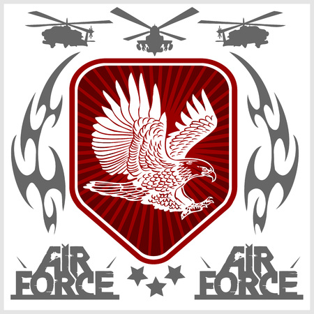 us military: US Air Force - Military Design. vector set.