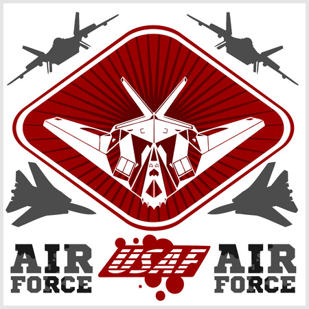 us air force: US Air Force - Military Design. vector set.