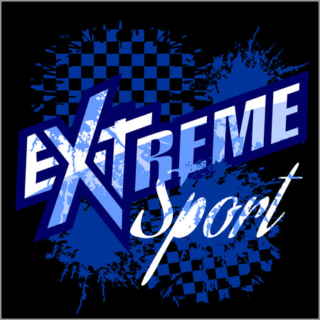 extreme: Extreme sport - vector logo for tshirt. Illustration