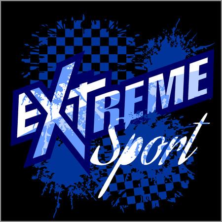 Extreme sport - vector logo for tshirt. Vettoriali