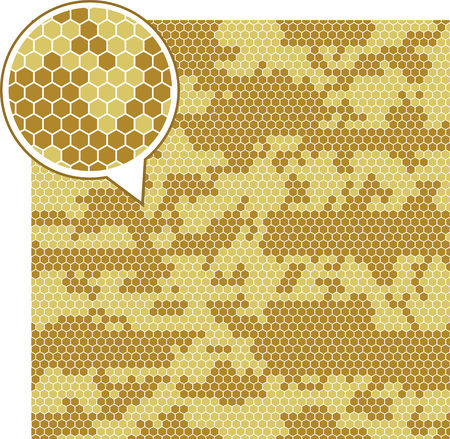 disruptive: Digital camouflage seamless patterns - vector hexagons. Illustration